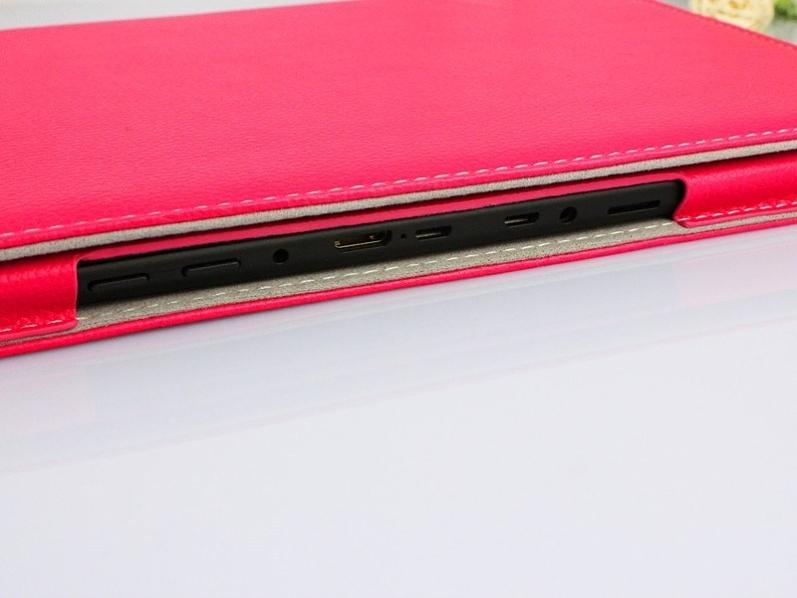 Kožené pouzdro pro PiPO Max M9 / M9 Pro - barevné Růžová + DOPRAVA ZDARMA