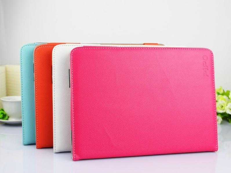 Kožené pouzdro pro PiPO Max M9 / M9 Pro - barevné Oranžová + DOPRAVA ZDARMA